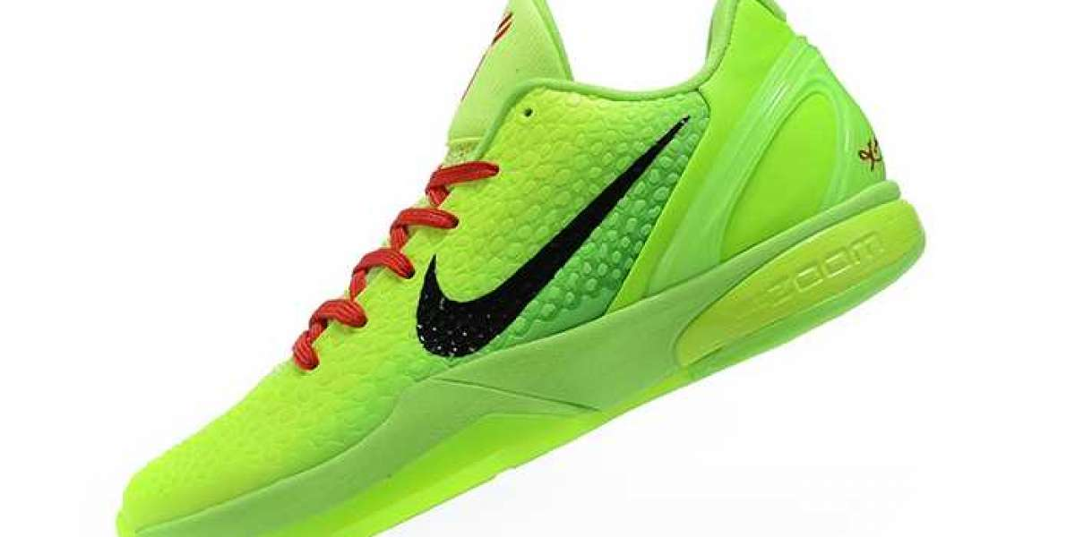 "Nike Kobe 6 Protro ""Grinch"" Green Apple/Volt/Crimson/Black 2020 New Released CW2190-300 Hot Sell"