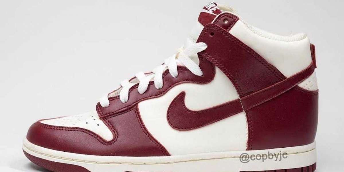 "DD1869-101 Nike Dunk High ""Team Red"" Coming In Early 2021"