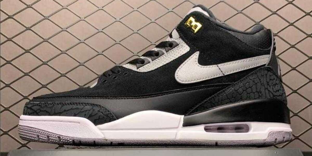 Air Jordan 3 Tinker Black Cement shoes are available now